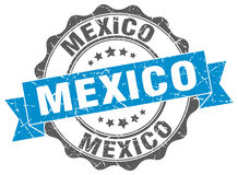 Mexico round ribbon seal Royalty Free Stock Photography