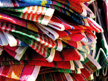 Mexico's traditional knitted grocery bags. Mexico's traditional knitted colorful grocery bags Royalty Free Stock Photography