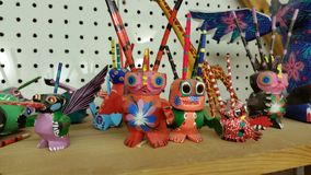 Mexico Sculptures on shelf for Sale Royalty Free Stock Images
