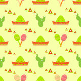 Mexico seamless pattern, festive background Stock Photos