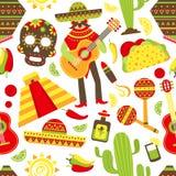 Mexico seamless pattern Royalty Free Stock Photo