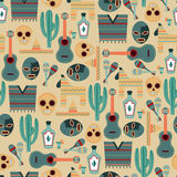 Mexico Seamless Pattern Stock Image