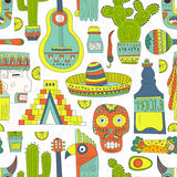 Mexico Seamless Pattern Royalty Free Stock Photos