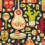 Mexico Seamless Pattern Royalty Free Stock Images