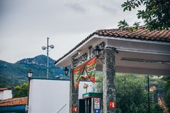 MEXICO - SEPTEMBER 22: Gas station with the traditional red and stock photography