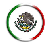 Mexico shield for olympics. Mexico button shield for olympics on white background Royalty Free Stock Photography