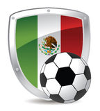 Mexico shield soccer Royalty Free Stock Image