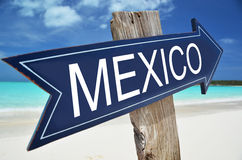MEXICO sign. On the beach Royalty Free Stock Photo