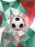 Mexico Soccer Ball Background Stock Photos