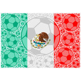 Mexico soccer balls Royalty Free Stock Image