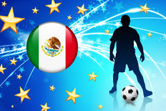 Mexico Soccer Player on Abstract Light Background Stock Photos