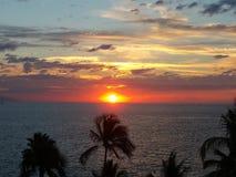 Mexico solnedgång Royaltyfri Foto