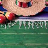 Mexico sombrero wood background mexican sombrero cinco de mayo royalty free stock photos