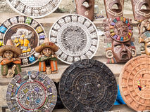 Mexico souvenurs. Handmade products that represent the ancient Mayan culture royalty free stock photos
