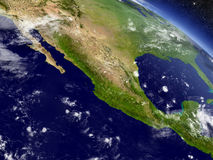 Mexico from space Stock Photography