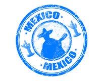 mexico stämpel Fotografering för Bildbyråer
