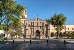 Mexico - stad, San Juan Bautista Parish i Coyoacan, Mexico Fotografering för Bildbyråer