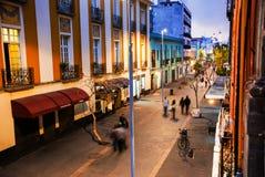 Mexico - staden är huvudstaden av Mexico Uteliv i Mexico - stad Royaltyfria Foton