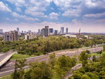 Mexico - stadsChapultepec panoramautsikt Royaltyfri Fotografi