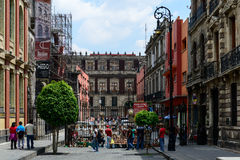 Mexico - stadshistorisk byggnad Arkivfoton