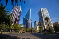 Mexico - stadspanoramagata CDMX royaltyfria foton