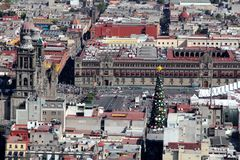Mexico - stadssikt, Mexico royaltyfria bilder