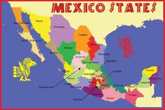 Mexico states Stock Images