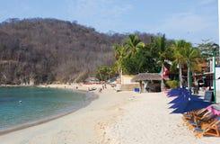 mexico Stranden av Huatulco arkivbilder