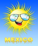 Mexico Sun Smiling Means Sunny 3d Illustration vector illustration