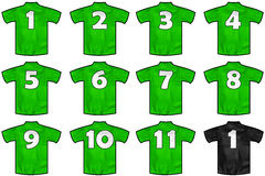 Mexico team shirts Royalty Free Stock Images