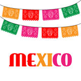Mexico. template with hanging traditional mexican Royalty Free Stock Photography