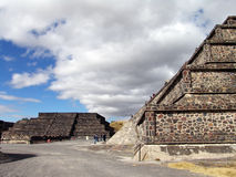 Mexico. Teotihuacan pyramids. Dead valley Stock Photos