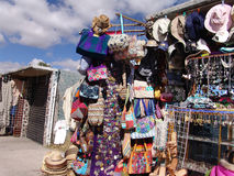 Mexico. Teotihuacan pyramids. Market of Souvenirs Stock Images