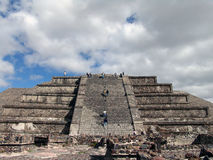 Mexico. Teotihuacan pyramids. Pyramid of the Moon Royalty Free Stock Images