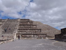Mexico. Teotihuacan pyramids. Pyramid of the Moon Stock Photography
