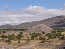 Mexico. Teotihuacan pyramids. Pyramid of the Moon Royalty Free Stock Photography