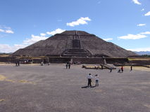 Mexico. Teotihuacan pyramids. Pyramid of the Sun Royalty Free Stock Images