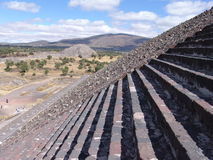 Mexico. Teotihuacan pyramids. Pyramid of the Sun Stock Photography