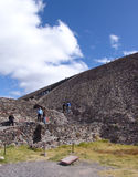 Mexico. Teotihuacan pyramids. Tourists Stock Photos