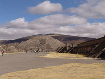 Mexico. Teotihuacan pyramids. Veiw to Dead valley Royalty Free Stock Photos
