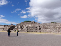 Mexico. Teotihuacan pyramids. Veiw to Dead valley Royalty Free Stock Image