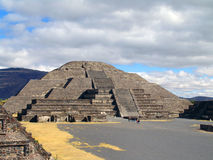 Mexico. Teotihuacan pyramids. View to Moon Piramid Stock Image