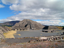 Mexico. Teotihuacan pyramids. View to Moon Piramid Royalty Free Stock Images