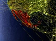 Mexico ter wereld met netwerken royalty-vrije illustratie