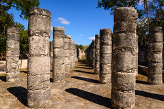 Mexico thousand columns temple in Yucatan Stock Image