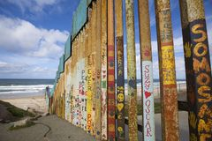 Mexico - Tijuana - The wall of shame. The firs wall near Mexico Royalty Free Stock Image