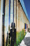 Mexico - Tijuana - The wall of shame. The first wall near Mexico Royalty Free Stock Photography