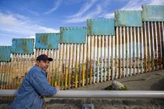 Mexico - Tijuana - The wall of shame. Daily life near the firs wall of Mexico Royalty Free Stock Photo