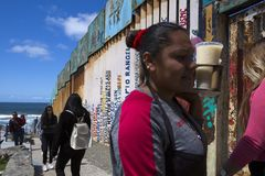 Mexico - Tijuana - The wall of shame. Daily life near the first wall Stock Photos