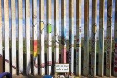 Mexico - Tijuana - The wall of shame. The firs wall near Mexico Royalty Free Stock Photo